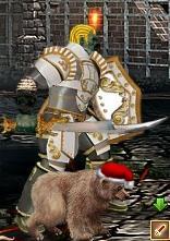 Зеленый Медвежонок в бою