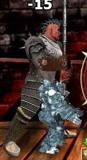 Синий Голем в бою