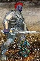 Синий Игураон в бою