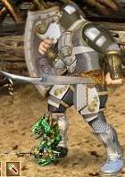 Серый Игураон в бою