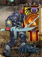 Синий Клеширчик в бою