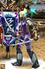 Фиолетовый Линг в бою