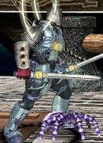 Синий паучок в бою