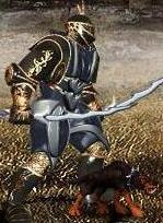 Синий Щенок-демон в бою