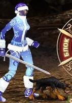 Серый Щенок-демон в бою