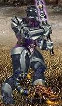 Фиолетовый Скорпионыш в бою