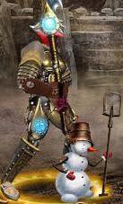 Синий Снеговичок в бою