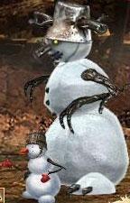 Серый Снеговичок в бою