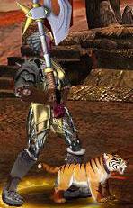 Серый Тигрун в бою