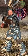 Синий Зигред в бою